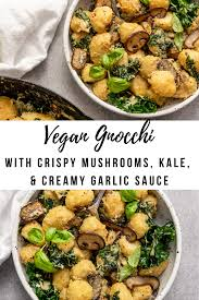 Creamy Vegan Mushroom Kale Gnocchi – Alysa Reynolds
