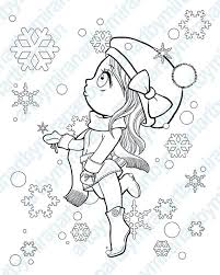 Christmas Girl Coloring Pages At Getdrawingscom Free For Personal