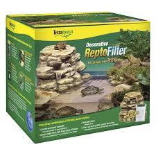 Turtle Tank Decor Amazoncom Tetra 25905 Decorative Reptile Filter For Aquariums