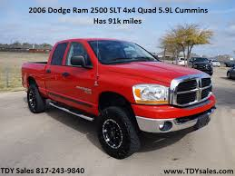 TDY Sales - 2006 Dodge Ram 2500 in Red. With 91,310 miles SLT 4x4 ...