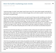 buffer s marketing manifesto in words this was originally shared as an evernote note