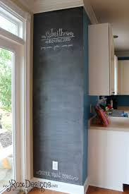 Small Chalkboard For Kitchen Chalkboard Accent Wall Inspiration Wednesday Project Complete