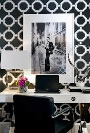 wallpapered office home design. home decor office interiors wallpaper desk black u0026 wallpapered office home design e
