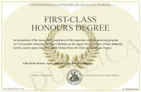 First Class Honours First Class Honours Degree