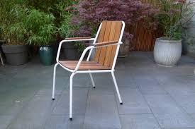tubular steel stacking garden chair
