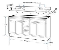 Standard Bathroom Vanity Top Sizes Standard Height For Bathroom Vanity Housezada
