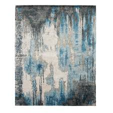 the modern canvas caverns blue steel rug 600 tufenkian