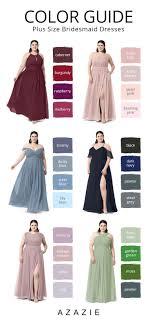 Plus Size Bridesmaid Designers Plus Size Bridesmaid Dresses Color Guide Shop The Popular