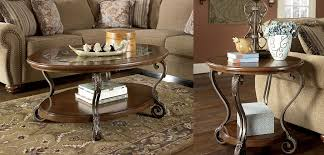 end table sets. Ashley T517 Table Set Oval Cocktail And 2 Round End Tables Sets