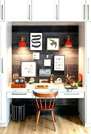 small office solutions. Small Office Solutions Home In A Closet Featuring Wood Paneling And Modern Brass Glass Wall Lights Network Storage E