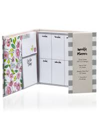 Grey Stripe Magnetic Weekly Organizer Cleo