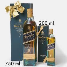 johnnie walker blue label blended scotch whisky 14ml gift set