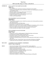 Hvac Manager Resume Samples | Velvet Jobs