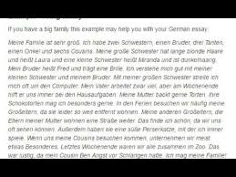 german essay on my family my family german
