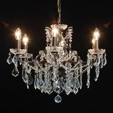 shallow six arm chandelier bronze image 6