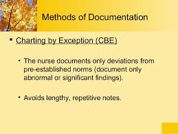 Methods Of Charting Documentation And Reporting