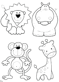 baby zoo animals coloring pages. Zoo Animals Coloring Pages Free Animal Preschool Page Sheets Fr Inside Baby