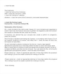 Letter To Terminate Contract With Supplier Contractor Termination Main And Subcontractor Agreement Aia
