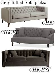 Fancy Grey Tufted Sofa 88 In Living Room Inspiration With  Grey Tufted Sofa88