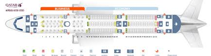 Airbus A350 900 Seating Chart Seat Map Airbus A350 900 Qatar Airways Best Seats In The Plane
