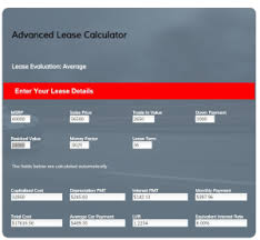 Car Lease Calculator Car Lease Evaluator Free Tool To Help You Evaluate Your Car Lease