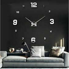 5 inch wall clock special large quartz wall clock living room big acrylic watch mirror stickers