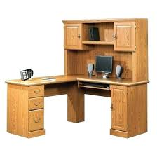 sauder salt oak desk sauder orchard hills computer desk with hutch and l shaped harbor view