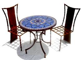mosaic table top for mosaic blue tile table 42 inch glass table top for