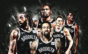 Jersey swaps and text graphics i created for kyrie irving and paul george. Download Wallpapers Brooklyn Nets Nba American Basketball Club Gray Stone Background Basketball Kevin Durant Kyrie Irving Caris Levert For Desktop Free Pictures For Desktop Free