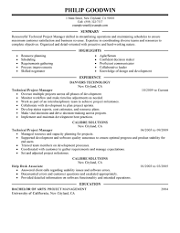 best technical project manager resume example livecareer it create my resume