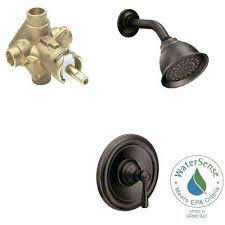 oil rubbed bronze shower fixtures single handle 1 spray performance shower faucet trim kit with valve
