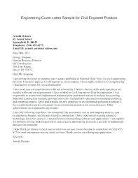 Civil Engineering Cover Letter Entry Level Environmental Engineering Cover Letter Engineering Cover Letter John