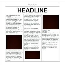 Newspaper Article Layout Template For Word 2018 Writings