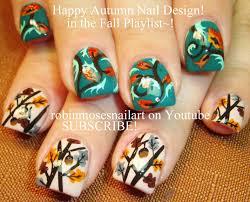 Thanksgivng Nail Art   Fall Acorn Nails Designs for Short Autumn ...