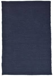 solid navy blue flatweave eco cotton rug