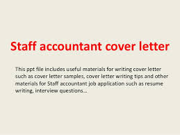 Staff Accountant Cover Letter Gallery For Website Staff Accountant