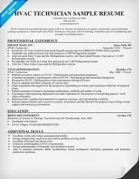 Hvac Technician Resume Examples 79 Images Hvac Resume Samples