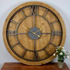 ... Wonderful Statement Wall Clocks Unusual Wall Clocks Round Wooden Clock  Vas Flower Table White ...