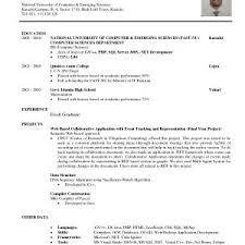 Resume / Cv Sample Or Template For Fresh Graduate In Engineering ...
