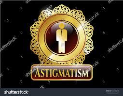 Astig Logo Design Golden Emblem Badge Businessman Icon Astigmatism Stock