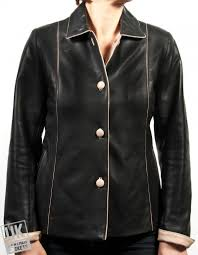 women s black leather jacket plus size cameo front