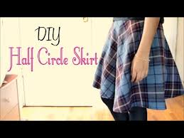 how to make a half circle skirt without a pattern