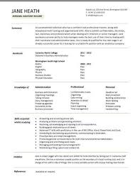 Resume Student Template Stunning A Cv Template For A Student In 28 Cv Template Pinterest
