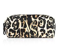 victoria s secret leopard print make up bag pencil cosmetic case