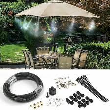 6M-<b>18M Outdoor Misting Cooling</b> System Fan Cooler <b>Patio</b> Water ...