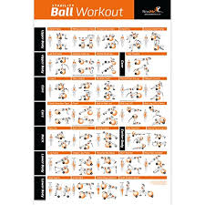 Free Exercise Ball Chart Stability Exercise Ball With Exercise Chart Pump