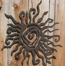 rustic sun wall decor 24 by fttdesign on etsy 70 00 on sun metal indoor outdoor wall art with rustic sun wall decor 24 recycled steel custom sun metal sun