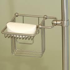 shower riser shampoo soap holder