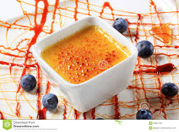 French Dessert Creme Brulee Stock Image Image Of French