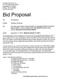 Sample Bid Letters Sample Bid Proposal Letter Under Fontanacountryinn Com